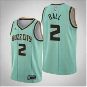 ♼2021Charlotte Hornets LaMelo Ball Jersey Buzz C